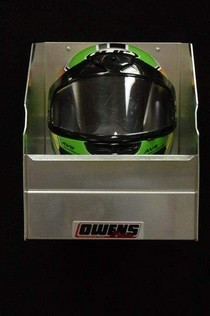 1990-1996 Chevrolet Corsica Owens RaceMates Single Helmet Rack - Smooth Aluminum
