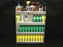 1973-1991 Chevrolet Suburban Owens RaceMates Four Tier Oil Storage - Smooth Aluminum