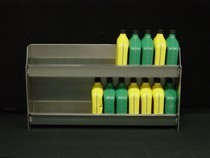1990-1996 Chevrolet Corsica Owens RaceMates Two Tier Oil Storage - Smooth Aluminum