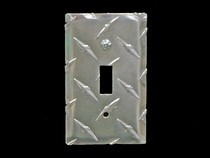 1984-1986 Ford Mustang Owens RaceMates Single Switch Cover - Diamond Tread