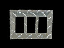 1968-1976 BMW 2002 Owens RaceMates Triple Rocker (gfi) Switch Cover - Diamond Tread, 10 Pack Switch Cover