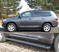 toyota highlander running boards at andy s auto sport toyota highlander running boards at