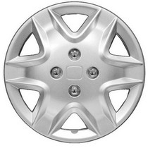 2002-2005 Honda Civic_SI Pacific Rim Silver Metallic Wheel Skins - Complete Set - Lynx Style - 14""