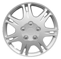 1974-1976 Ford Elite Pacific Rim Silver Metallic Wheel Skins - Complete Set - Rattler Style - 14""