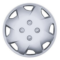 2002-2005 Honda Civic_SI Pacific Rim Silver Metallic Wheel Skins - Complete Set - Bobcat Style - 14""