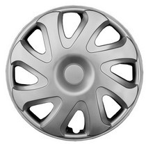2002-2005 Honda Civic_SI Pacific Rim Silver Metallic Wheel Skins - Complete Set - Bulldog Style - 14""