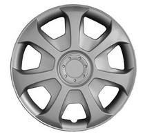1974-1976 Ford Elite Pacific Rim Silver Metallic Wheel Skins - Complete Set - Caribou Style - 15""