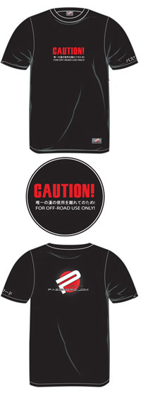 "1973-1978 Mercury Colony_Park Password JDM Apparel - ""Caution"" Shirt (Black)"