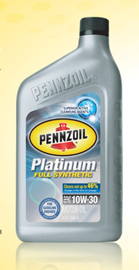 1995-1999 Dodge Neon Pennzoil Platinum Synthetic - 10W30 CS6