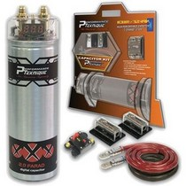 2000-2002 Plymouth Neon Performance Teknique 2 Farad Power Capacitor And 4 Gauge Installation Kit