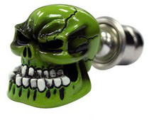 1993-1993 Ford Thunderbird Pilot Skull Cigarette Lighter (Green)