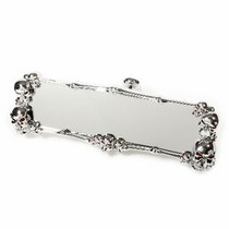 All Jeeps (Universal), Universal Pilot Chrome Abs Skull Rear View Mirror