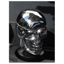 1967-1969 Chevrolet Camaro Pilot Skull Chrome Ash Tray w/ Red Diamond Eyes