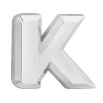 All Jeeps (Universal), All Vehicles (Universal), Universal Pilot Chrome Letter K Emblem