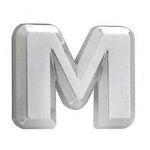 All Jeeps (Universal), All Vehicles (Universal), Universal Pilot Chrome Letter M Emblem