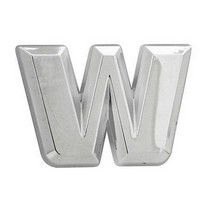 All Jeeps (Universal), All Vehicles (Universal), Universal Pilot Chrome Letter W Emblem