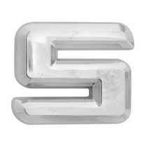 All Jeeps (Universal), All Vehicles (Universal), Universal Pilot Chrome Number 5 Emblem