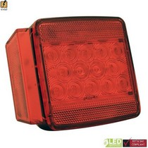 1998-2004 Lexus Lx470 Pilot L.E.D. Submersible Trailer Light w/ License (Red)