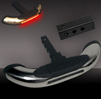 Universal - All Vehicles Pilot Hitch Steps - 2 in 1 Bully Mounted w/ LED Brake Light 2