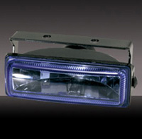 "1991-1993 GMC Sonoma Pilot Fog Lights - Navigator 4-5/8""x1-5/8""x3"" Rectangular Hid Kit (White)"