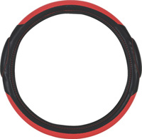 All Jeeps (Universal), Universal - Fits all Vehicles Pilot Steering Wheel Covers - Racing (Red/Black)