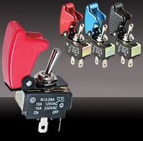 All Jeeps (Universal), All Vehicles (Universal), Universal Pilot Toggle Switch w/ Anodized Safety Cover (Red)