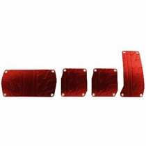 1997-2004 Chevrolet Corvette Pilot Tread Pedal Set 4 PC (Red)