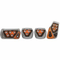 1991-1996 Ford Escort Pilot Tri Glo Pedal Set 4 PC (Orange)