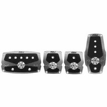 1997-2004 Chevrolet Corvette Pilot Anodized Pedal Set 4 PC (Silver)