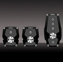 1999-2007 Ford F250 Pilot Anodized Pedal w/ Anti Slip Surface 3 PC (Black)