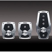 1991-1996 Ford Escort Pilot Anodized Pedal w/ Anti Slip Surface 3 PC (Silver)