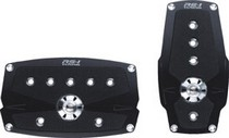 1968-1974 Ford Galaxie Pilot Anodized Pedal w/ Anti Slip Surface 2 PC (Black)