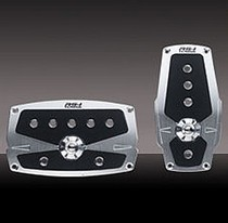 1999-2007 Ford F250 Pilot Anodized Pedal w/ Anti Slip Surface 2 PC (Silver)