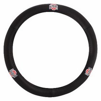 All Jeeps (Universal), Universal Pilot Ohio State Leather Steering Wheel Cover