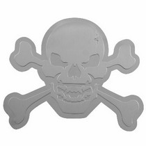 All Jeeps (Universal), All Vehicles (Universal), Universal Pilot Dual Layer SS Skull & Cross Bone Emblem
