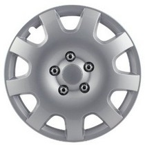 "1965-1972 Mercedes 250 Pilot 9 Spoke 16"" Wheel Cover (Gear Silver)"