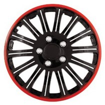 "1998-2000 Mercury Mystique Pilot Cobra 16"" Wheel Cover (Black Chrome w/ Red Accent)"
