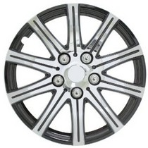 "1993-1997 Toyota Supra Pilot Stick 14"" Wheel Cover (Silver w/ Black Accent)"