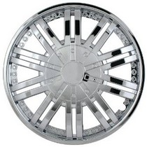 "1998-2000 Mercury Mystique Pilot 11 Spoke Venti 15"" Wheel Cover (Chrome)"