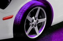 2001-2003 Honda Civic Plasmaglow Flexible LED Wheel Well Kit - PURPLE