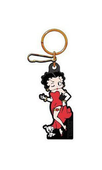 2002-2002 Lincoln Blackwood Plasticolor Key Chains - Betty Boop w/ Dog