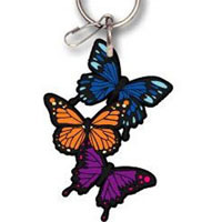 2002-2002 Lincoln Blackwood Plasticolor Key Chains - Butterflies