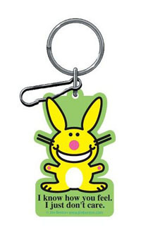 "2006-9999 Mercedes CLS-Class Plasticolor Key Chains - Happy Bunny ""I Know How You Feel. I Just Don'T Care."""