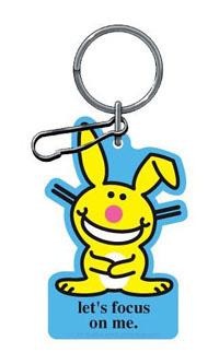 "2002-2002 Lincoln Blackwood Plasticolor Key Chains - Happy Bunny ""Let'S Focus On Me."""