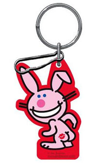 2006-9999 Mercedes CLS-Class Plasticolor Key Chains - Happy Bunny w/ Lips On Butt
