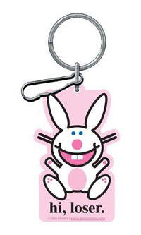"2006-9999 Mercedes CLS-Class Plasticolor Key Chains - Happy Bunny ""Hi Loser."""