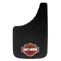 All Jeeps (Universal), Universal - Fits all Vehicles Plasticolor Mud Flaps - Harley-Davidson Orange/White Bar & Shield