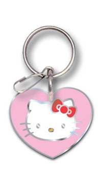 2002-2002 Lincoln Blackwood Plasticolor Key Chains - Hello Kitty Enamel