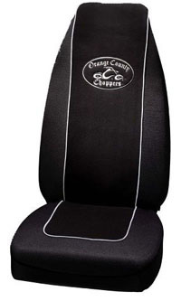 1988-1991 Honda Prelude Plasticolor Seat Covers - Orange County Choppers Bike Logo