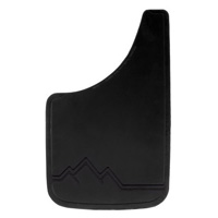All Jeeps (Universal), Universal - Fits all Vehicles Plasticolor Mud Flaps - All Black w/ Raised Off Road Scene